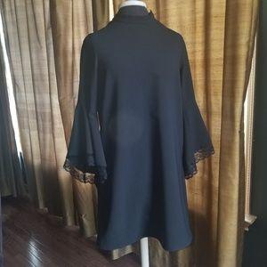 Zara Dresses - Zara Black Dress Lace Bell Sleeve